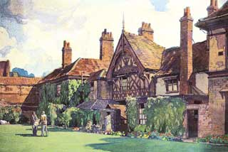 Archdeacon's House, now home to the Ipswich and Suffolk Club painted by Leonard Squirrel