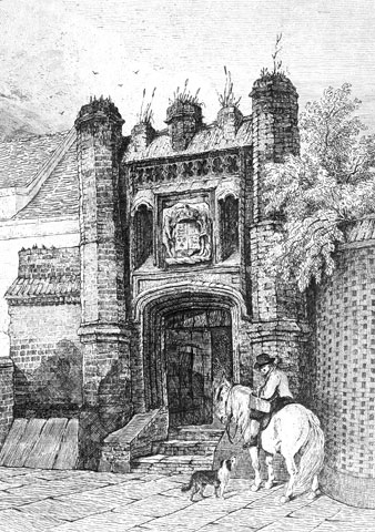 An illustration of how Pykenham's Gate may have looked in former years