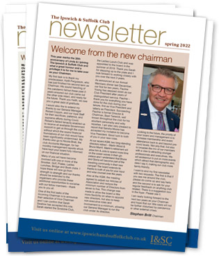 The regular newsletter of the Ipswich and Suffolk Club