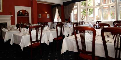 The private members restaurant at the Ipswich and Suffolk Club